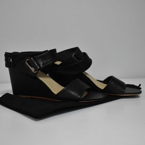 New Rag & Bone Black Damien Wedge Size 9